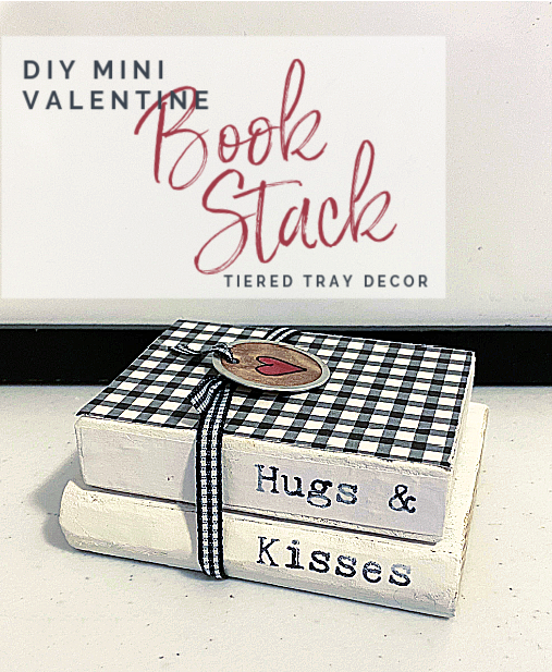Pin with overlay stacked books