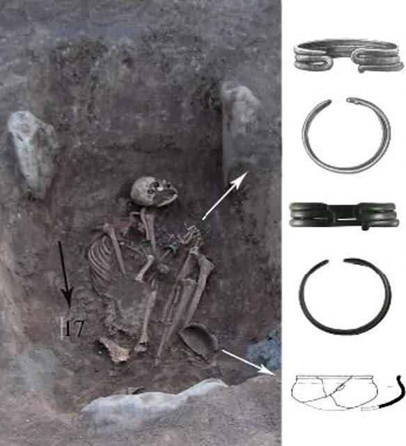 Guerrera amazónica en antigua tumba armenia