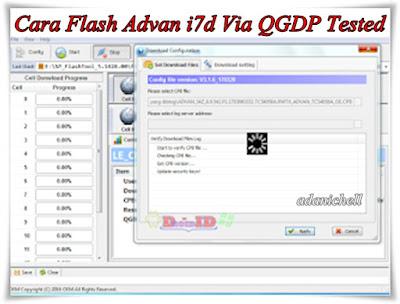 Cara Flash Advan i7d Via QGDP Tested
