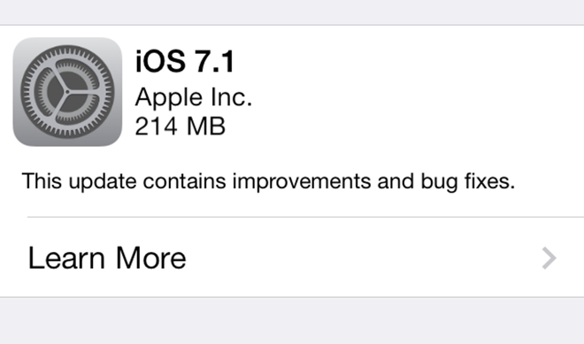 Download iOS 7.1 Firmware For All iDevices