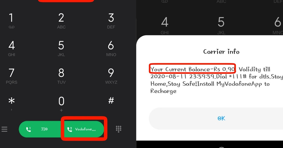 how to know the net balance in vodafone
