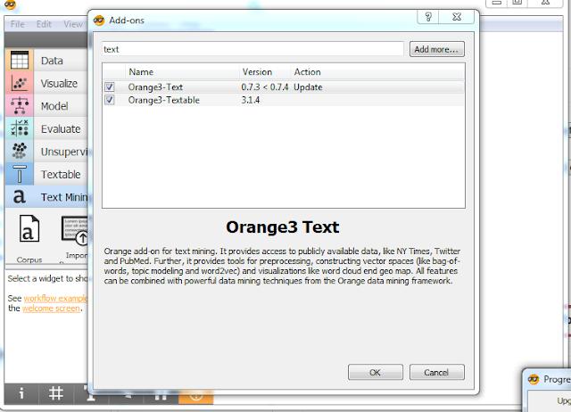 cara untuk menggunakan orange data mining