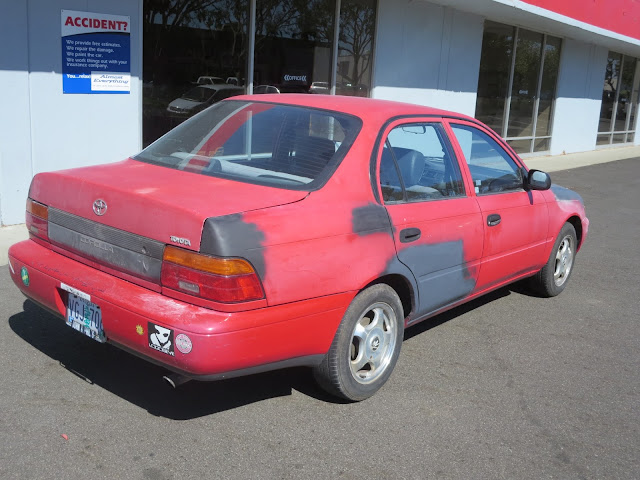 Used car dealer bought this car for low price. He changed color to white to make defects less noticable.