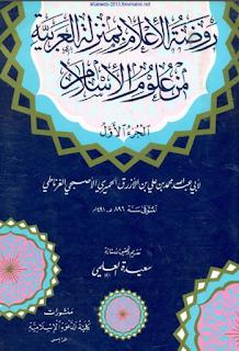 روضة الإعلام بمنزلة العربية من علوم الإسلام - ابن الأزرق الغرناطي