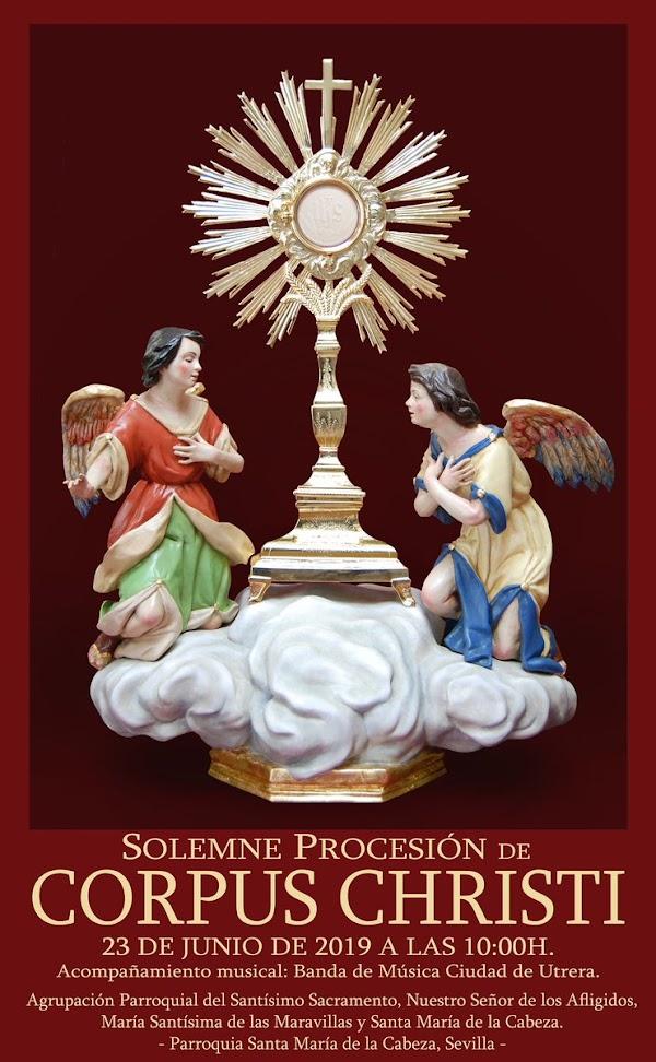 Cartel Corpus Christi de la Parroquia Santa María de la Cabeza