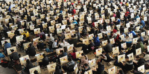 7000 sit exam for a place in Chinese art school
