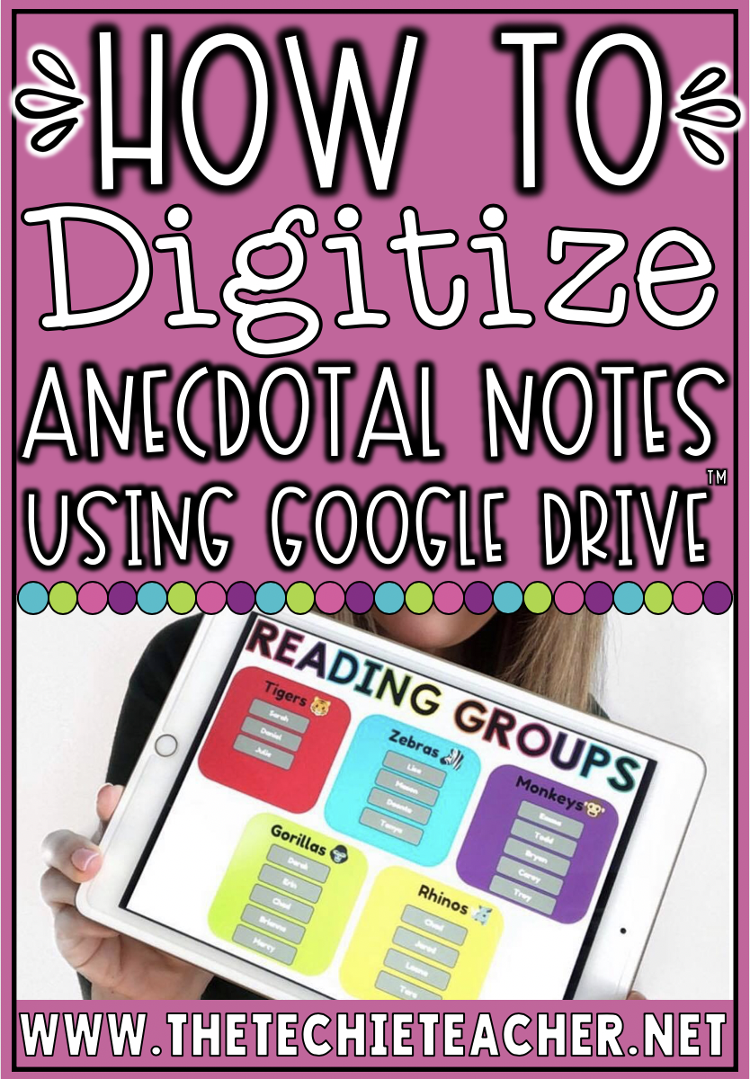 Digital Ways to Keep Anecdotal Notes Using Google Drive. This post will look at options for Google Forms, Google Sheets, Google Slides and Google Docs.