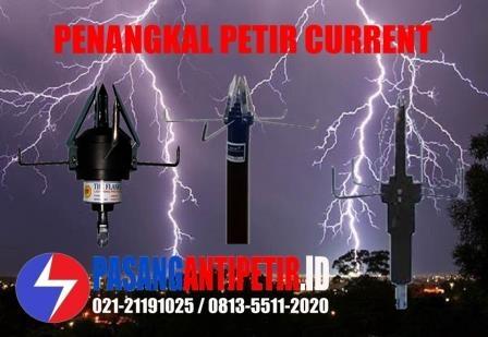 penangkal petir merk current, penagkal petir current cr 120, anti petir current, radius penangkal petir current