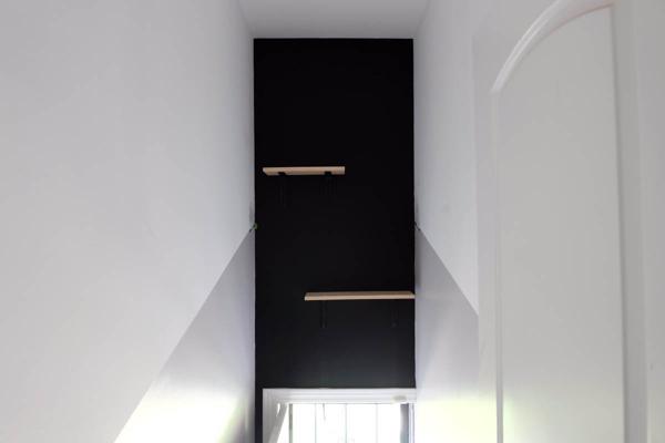 installing two pine shelves