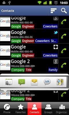 17 /12 برنامج جهات الاتصال ولوحة الاتصالDW Contacts & Phone & Dialer v2.1