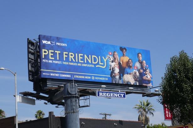 Pet Friendly series premiere billboard