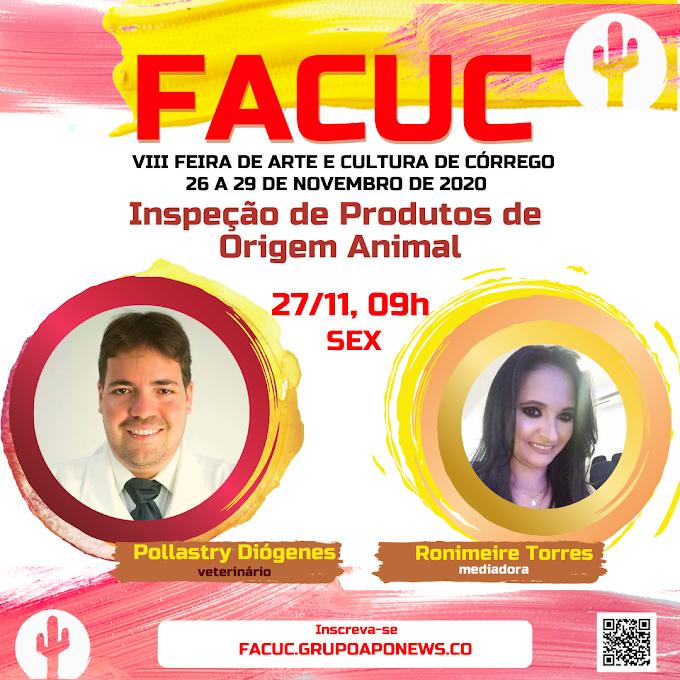 FACUC 2020 traz palestra sobre inspeção de produtos de origem animal com Pollastry Diógenes