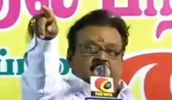 TN Election 2016: Vijayakanth Election Campaign Speech In Vazhapadi, Salem district