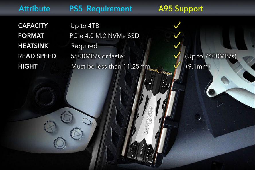 SSD AddGame A95 özellikleri