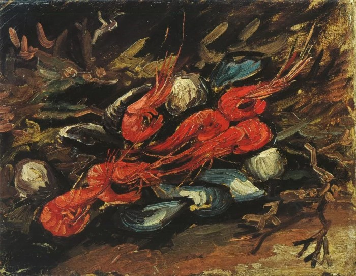 Still Life with Shells and Shrimps