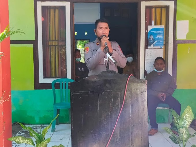 Hadiri Orasi Politik Cakades Mbawi, Polsek Dompu: Jangan Ada Hinaan