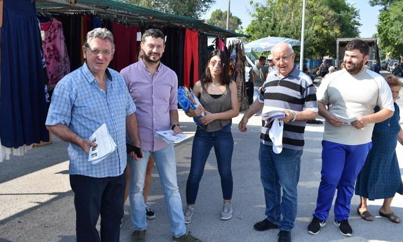 Προεκλογική δραστηριότητα υποψηφίων βουλευτών του ΚΚΕ στον Έβρο