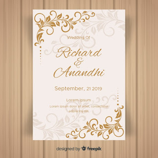Download Template Undangan Pernikahan gold