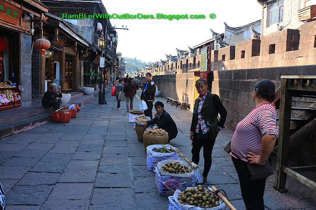 Street vendor at the Town wall, Phoenix Fenghuang County, Hunan, China