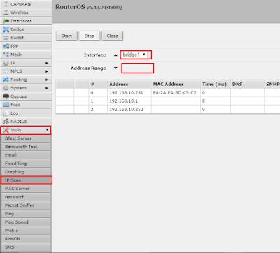 Cara Menggunakan Tools IP Scan Mikrotik - Kelasinong