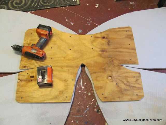 wooden plywood wings for butterfly art sculpture
