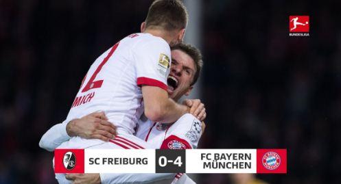Freiburg vs Bayern Munich 0-4 Highlights