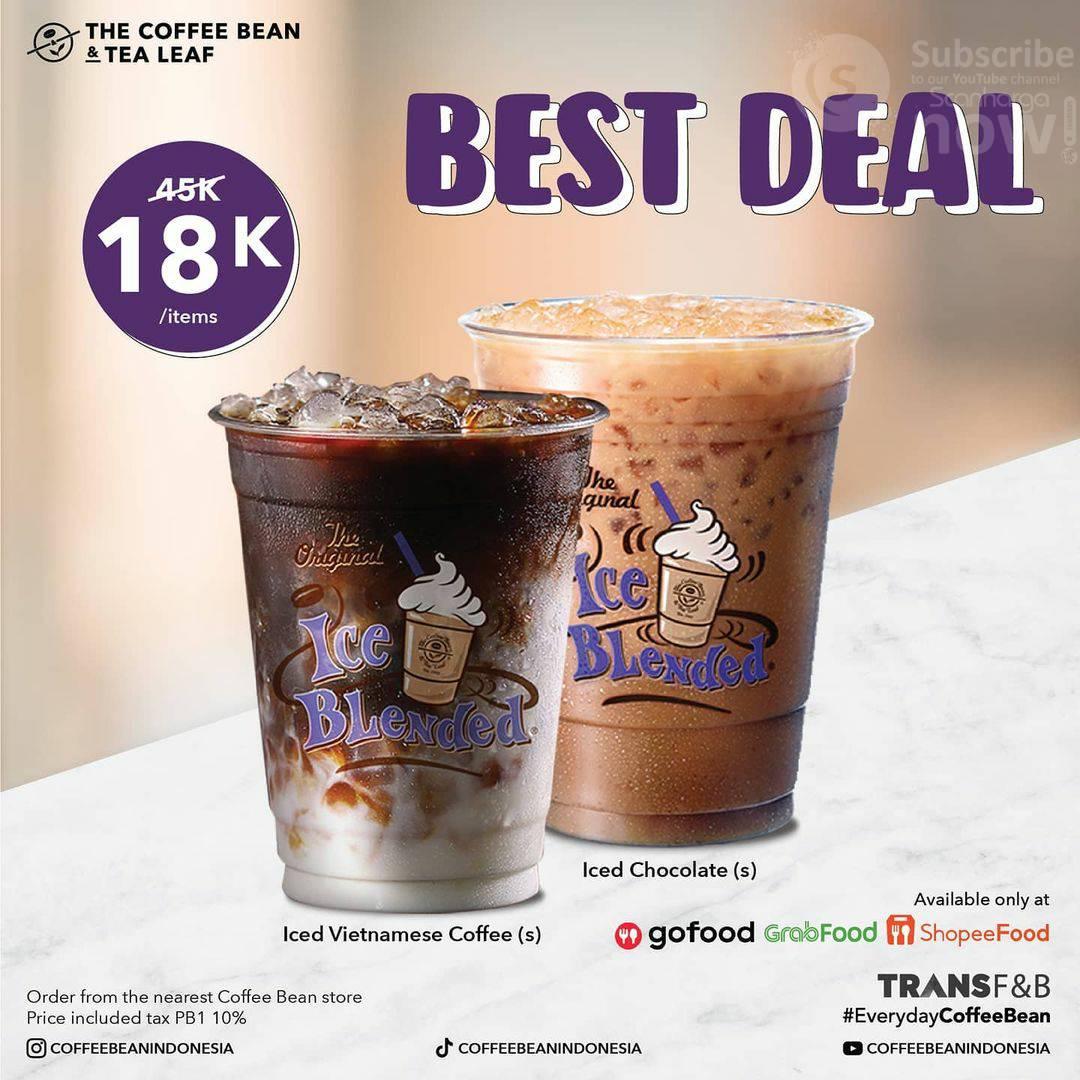Promo COFFEE BEAN Best Deals – Harga hanya Rp. 18.000 /item