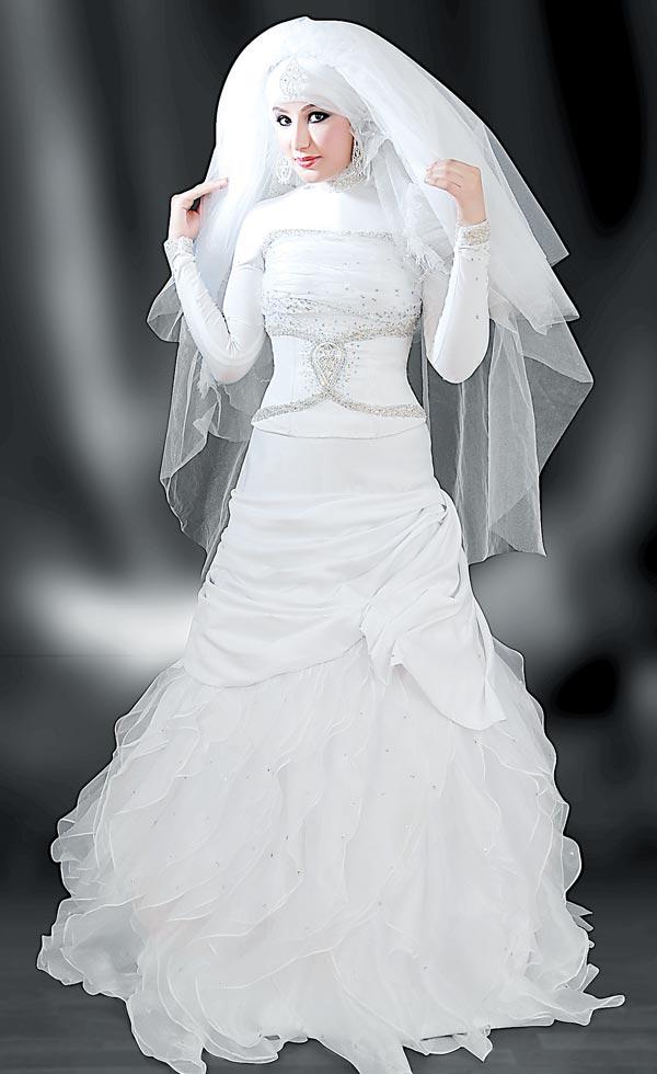 591067c94 The-latest-fashions-today: فساتين فرح للمحجبات اوف وايت2013 _ فساتين ...