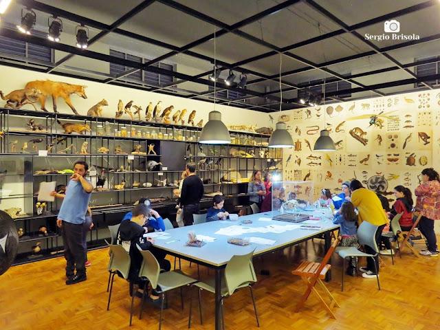 Vista da Sala de atividades do Museu de Zoologia da USP - Ipiranga - São Paulo