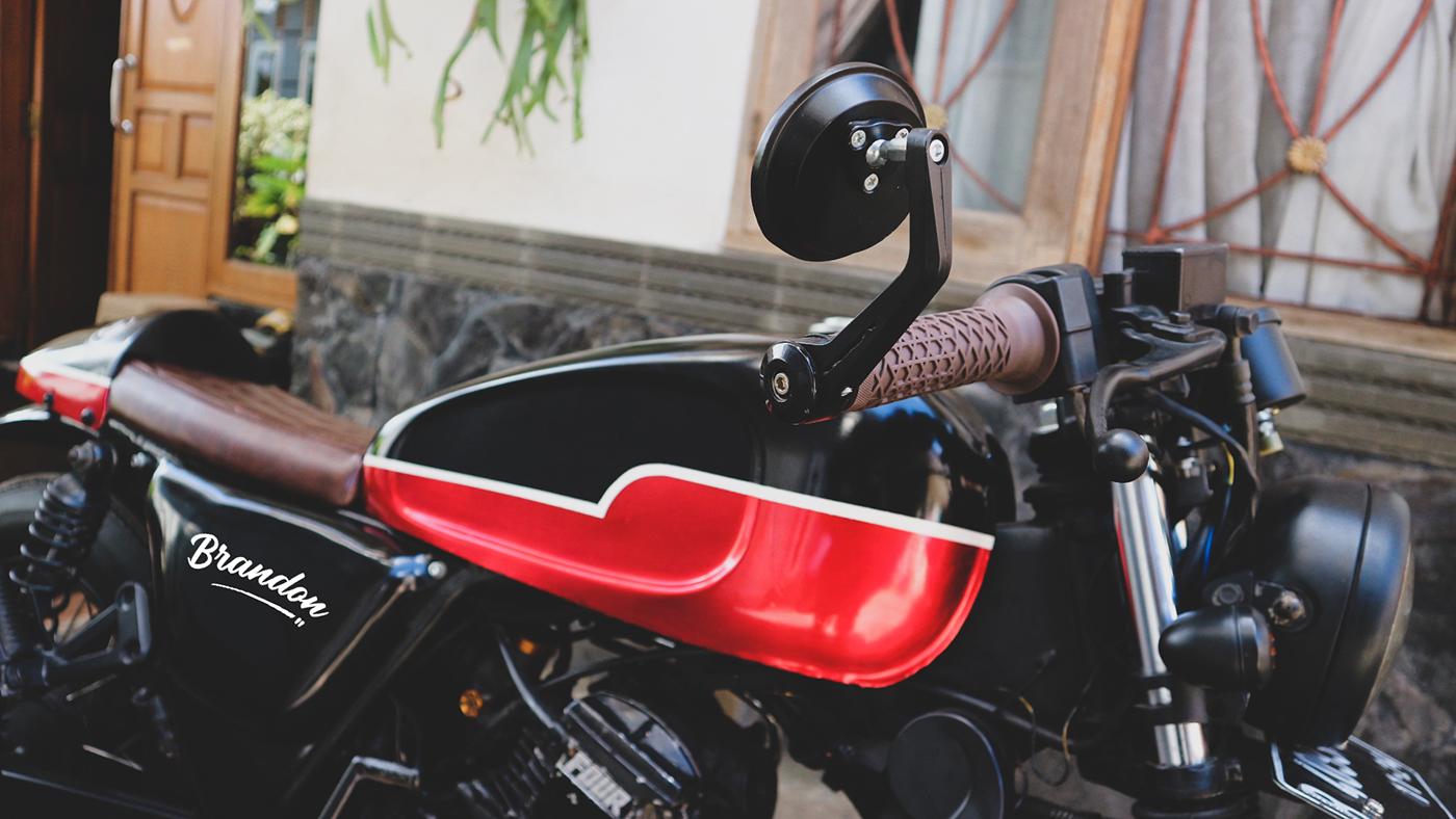 Spion Handgrip Cafe Racer Yamaha Scorpio