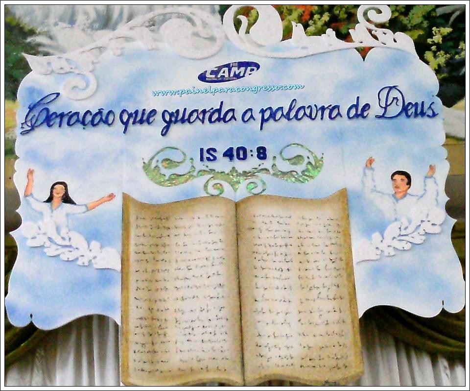 Tema desenhado para festividade de igreja   /   Isaías 40:8