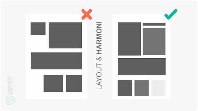 Layout infografis Seimbang dan Harmoni - cakyus.com
