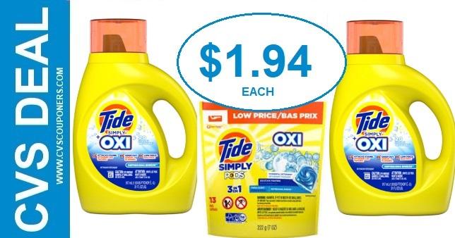Tide Simply Detergent CVS Deal 8-18 8-24