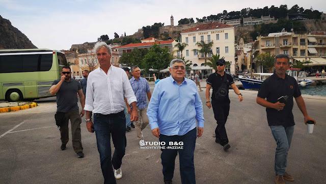 Το Ναύπλιο επισκέφθηκε ο Νίκος Μιχαλολιάκος (βίντεο)