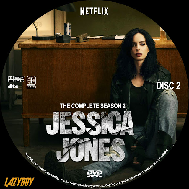 Jessica Jones Season 2 Disc 2 DVD Label