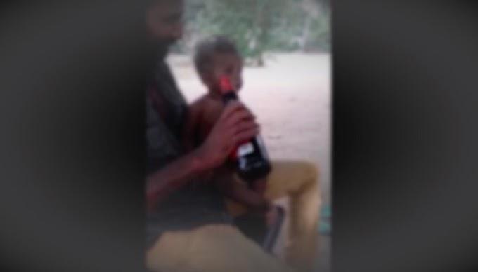 6 வயதுக் குழந்தைக்கு சாராயம் பருக்கிய சிங்களவன்