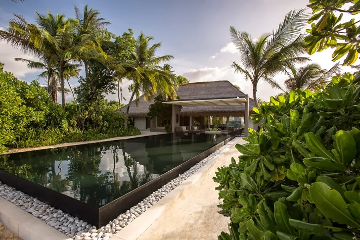 Swimming pool of Modern villa in Maldives by Jean-Michel Gathy