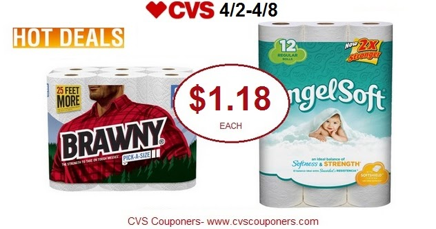 Cvs Couponers Hot Pay 1 18 For Brawny Paper Towels