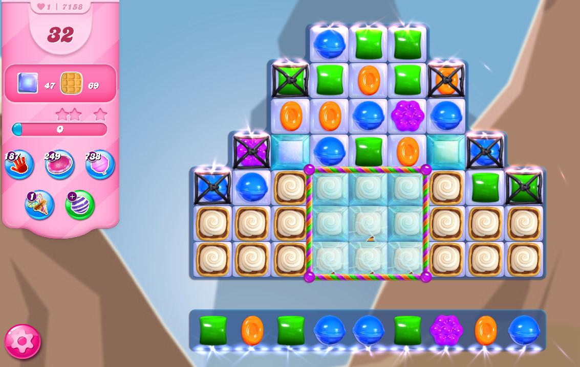 Candy Crush Saga level 7158