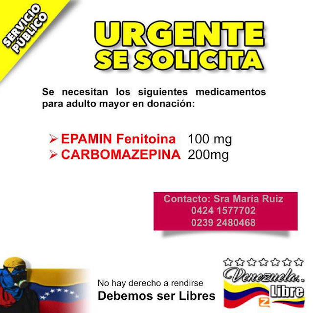 URGENTE SERVICIO PUBLICO  UN RT PUDE SALVAR UNA VIDA