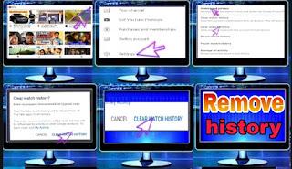 YouTube history remove