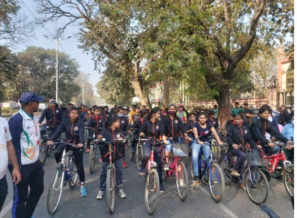 पटना में संपन्न हुआ 'फिट बिहार साइकिलोथॉन'