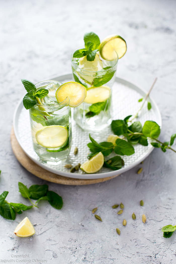 This refreshing and flavourful mojito made with cardamom simple syrup.