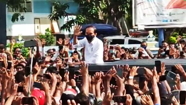 Kata Epidemiolog, Risiko Jokowi Tertular Corona Usai Kerumunan Di Maumere Rendah