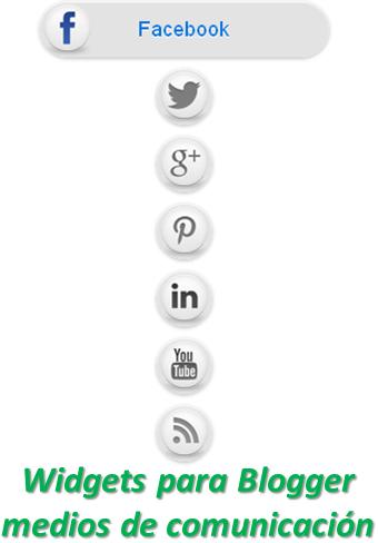Widgets para Blogger medios de comunicación