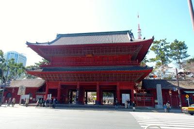 Sangedatsumon gate of Zojoji Temple Tokyo