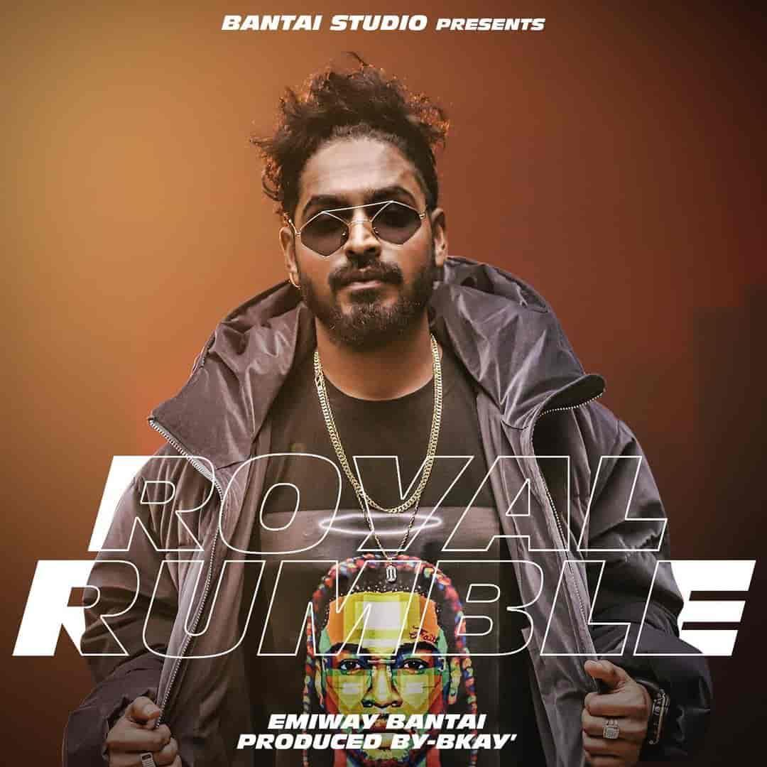 Royal Rumble Rap Song Image Features Emiway Bantai