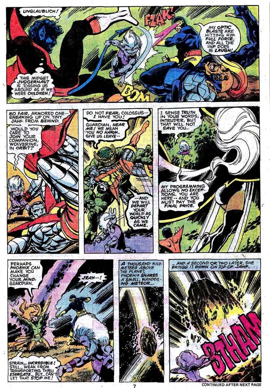 X-men v1 #108 marvel comic book page art by John Byrne