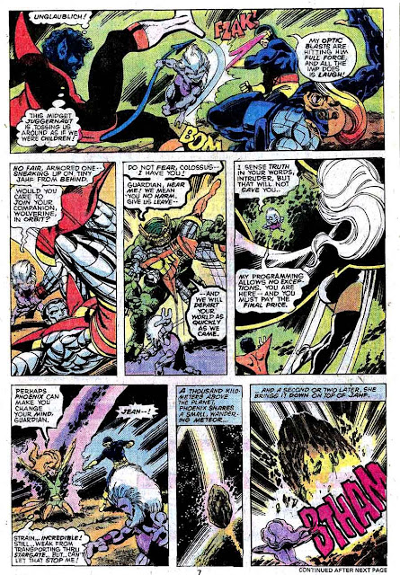 X-men v1 #108 marvel comic book page art by John Byrne