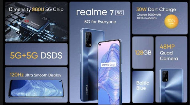 مواصفات وسعر موبايل REALME 7 5G